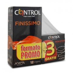 Control Adapta Finissimo 12 Preservativos + 3 non-stop gratis