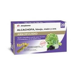 Arkofluido Forte Alcachofa, Hinojo, Mate y Uva 20 Ampollas
