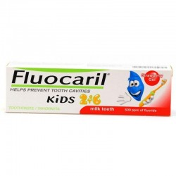 Gel Dentífrico Fluocaril Kids 2 a 6 años 50 ml Fresa