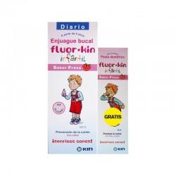 Colutorio Fluor-Kin Infantil 500 ml Fresa Diario