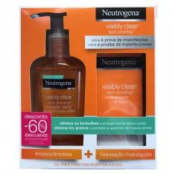 Neutrogena Oferta Visibly Clear Gel Limpiador 200 ml + Hidratante Oil-Free 50 ml