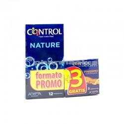 Control Adapta Nature 12 Preservativos + gratis 3 finissimo unidades