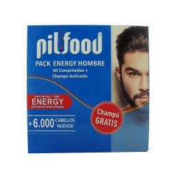 Pilfood Pack Energy Hombre 60 Comprimidos + Champú Anticaída