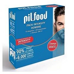 Pilfood Pack Intensity Hombre 15 Ampollas + 60 Comprimidos + Champú 200 ml