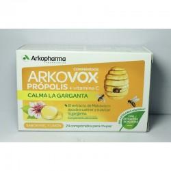 Arkovox Própolis + Vitamina C 24 comprimidos miel y limón