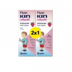 Duplo Colutorio Fluor-Kin Infantil 500 ml Fresa Diario