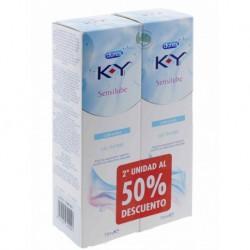 Durex KY Sensilube  lubricante íntimo gel duplo 75 ml + 75 ml