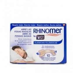 Rhinomer Breathe Right Tiras Nasales Clásicas Pequeñas/Medianas 10 Unidades