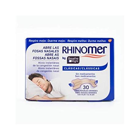 Rhinomer Breathe Right Tiras Nasales Clásicas Grandes 30 Unidades
