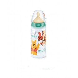 Nuk Winnie the Pooh Biberon First Choice 1 Orificio Medio 300 ml Verde