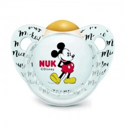 Nuk Disney Mickey Mouse Chupete Latex 0-6 meses 1 unidad (Gris)
