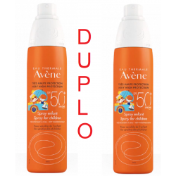 Duplo Avène Fotoprotector SPF 50+ Spray niños 200 ml + 200 ml