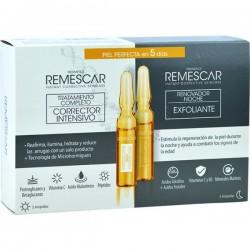 Remescar 5 Ampollas Corrector Intensivo + 5 Ampollas Exfoliante