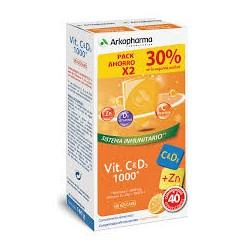 Arkopharma Vitamina C + D3 + Zn 40 Comprimidos Efervescentes