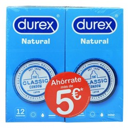 Oferta Duplo Durex Natural Plus 12 + 12 Preservativos