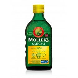 Moller´s Aceite de hígado de bacalao Omega-3 250 ml sabor limón