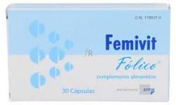 Femivit Fólico 30 Cápsulas