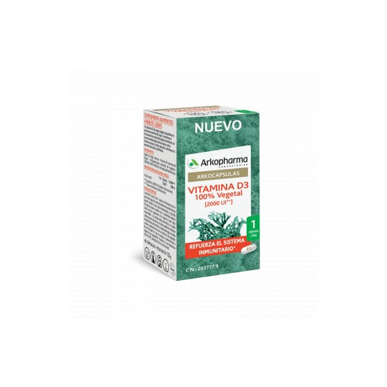 Arkopharma Vitamina D3 100% vegetal 45 Cápsulas